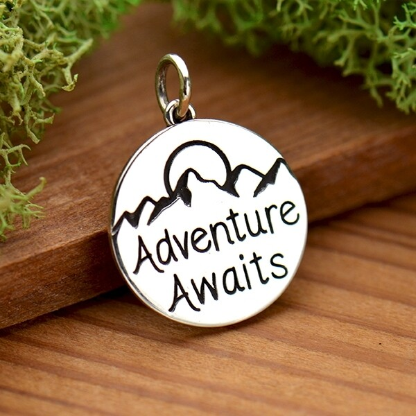 Sterling Silver Pendant - Adventure Awaits
