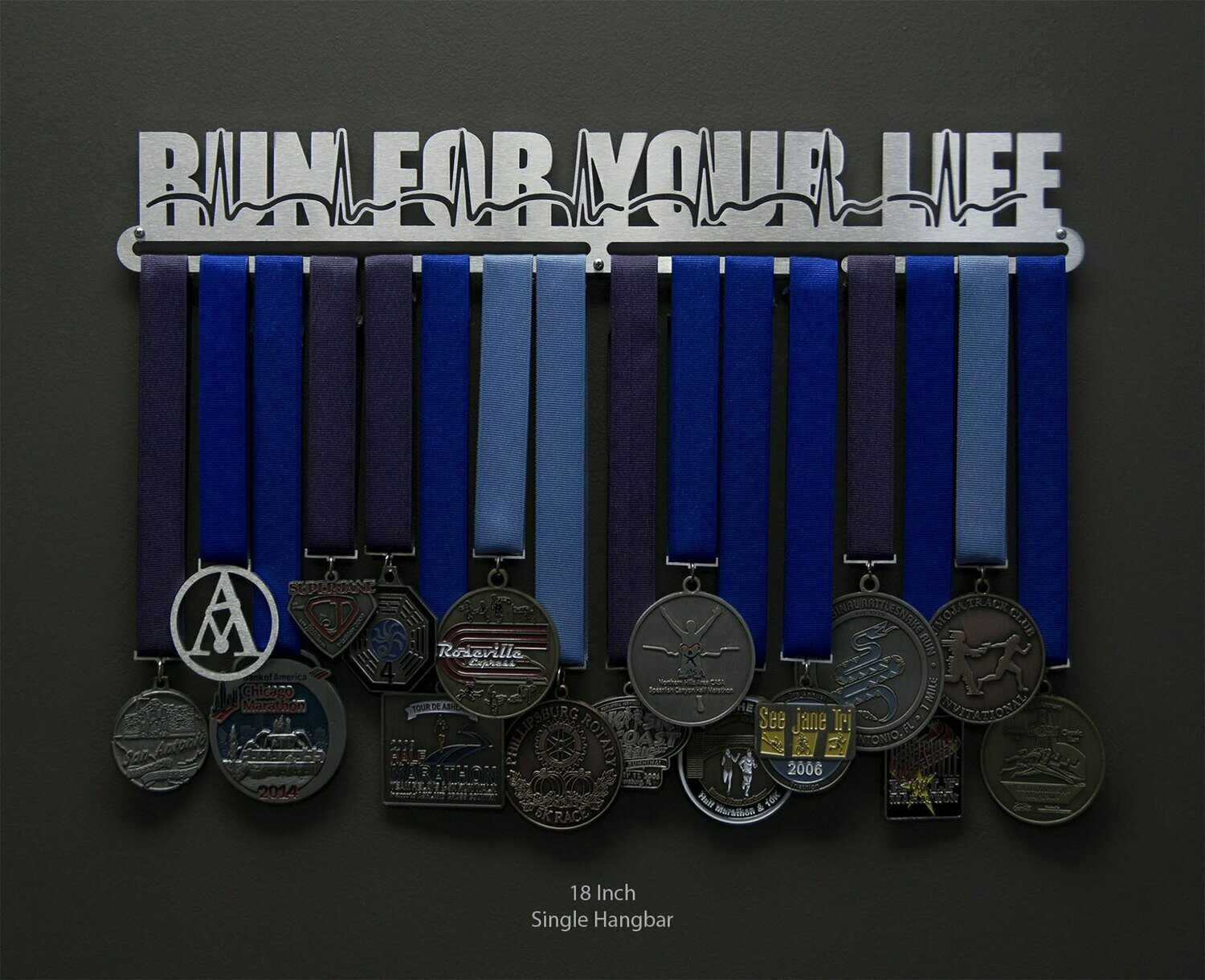 Run For Your Life Medal Display