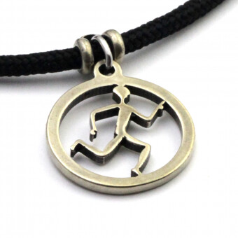 Running Guy Spirit Pendant Necklace