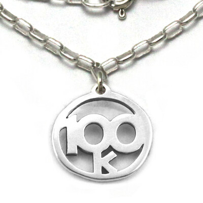 100k Necklace Sterling Silver