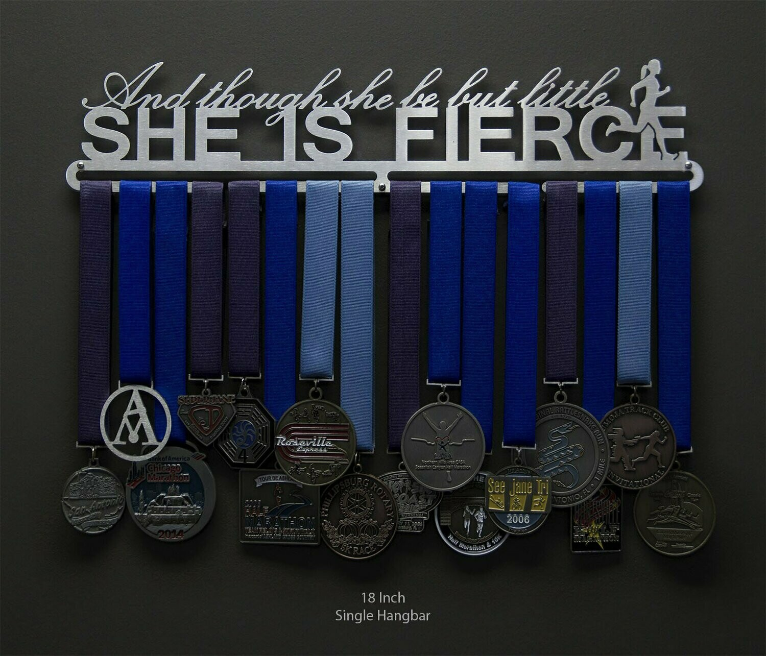 Medal Hanger And Though She Be But Little, She Is Fierce