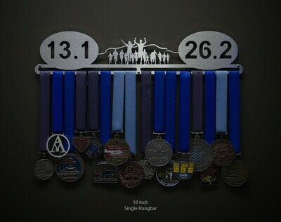 13.1 26.2 Runner Group Medal Hanger