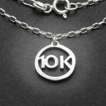 All Sterling Silver 10K Charm Necklace