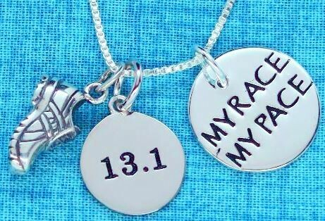 All Sterling Silver My Race My Pace 13.1/26.2/5K/10K Running Shoe Trios