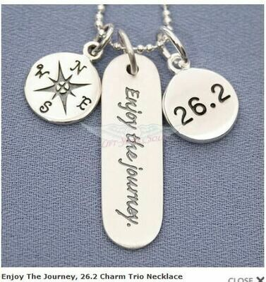 Enjoy The Journey, 26.2 Charm Trio Necklace
