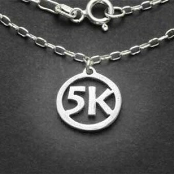 All Sterling Silver 5K Charm Necklace