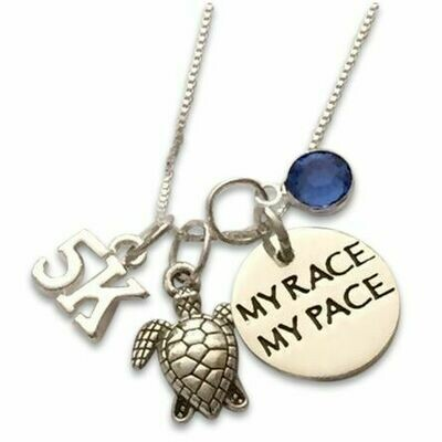 MY RACE MY PACE 5K Charms Necklaces