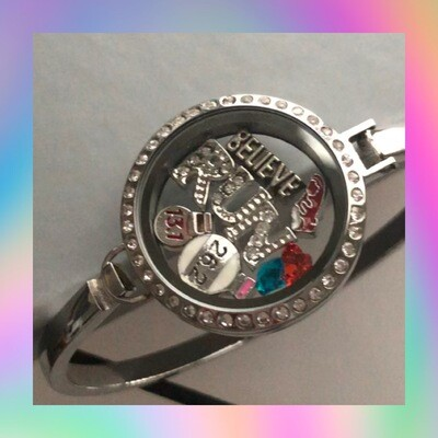 Believe Run 13.1 26.2 Locket Bracelet