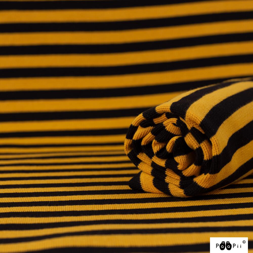 Bio Bündchen Streifen black oche by Paapii