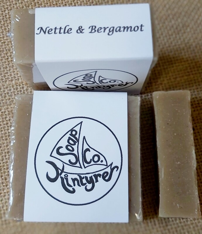 'Nettle & Bergamot' cold processed soap