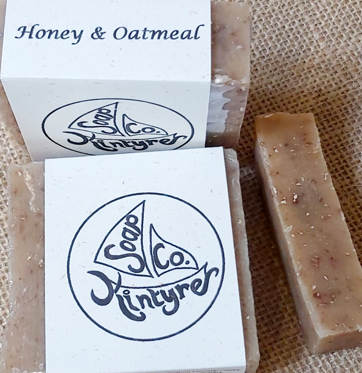 'Honey & Oatmeal' cold processed soap