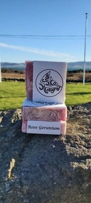 'Rose Geranium' cold pressed soap