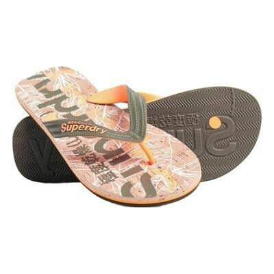 Cork Flip Flop Orange Corcho