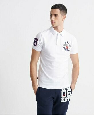 Polo SUPERDRY superstate con apliques