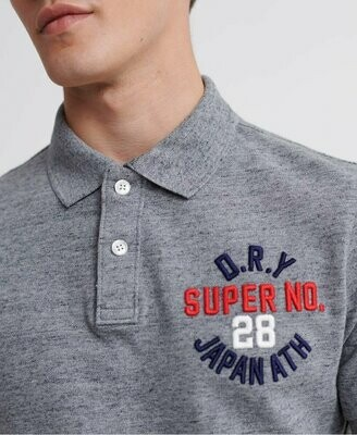 Polo superstate gris con apliques