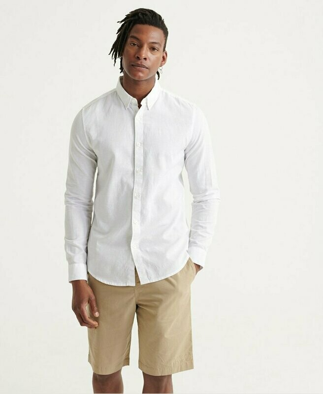 Camisa Edit De Lino Button Down blanca