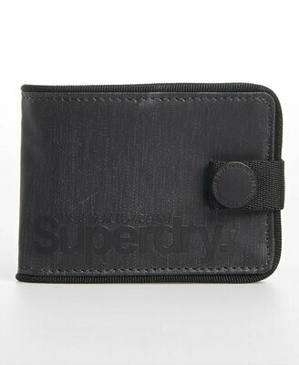 billetero cartera monedero tarp un boton negro