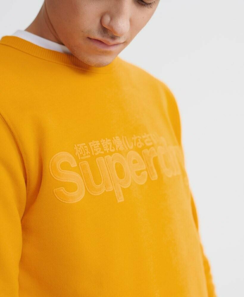 Sudadera Superdry con logo de  ante sintético Gold