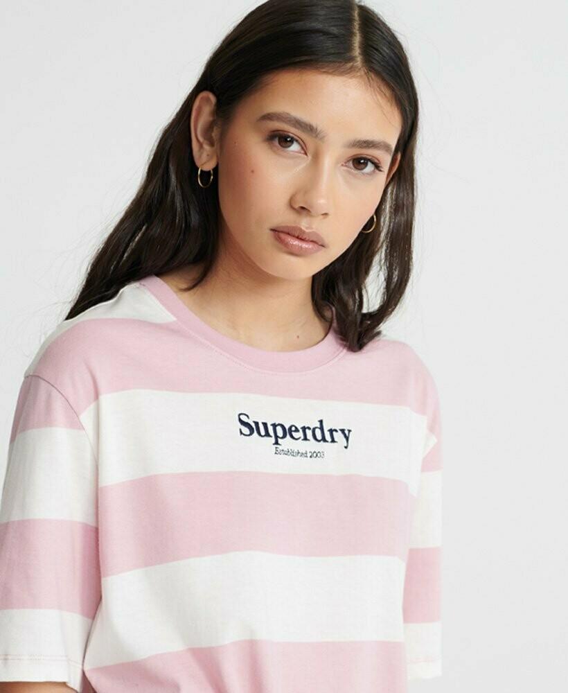 Camiseta Top Rayas Harper Color Rosa Chicle