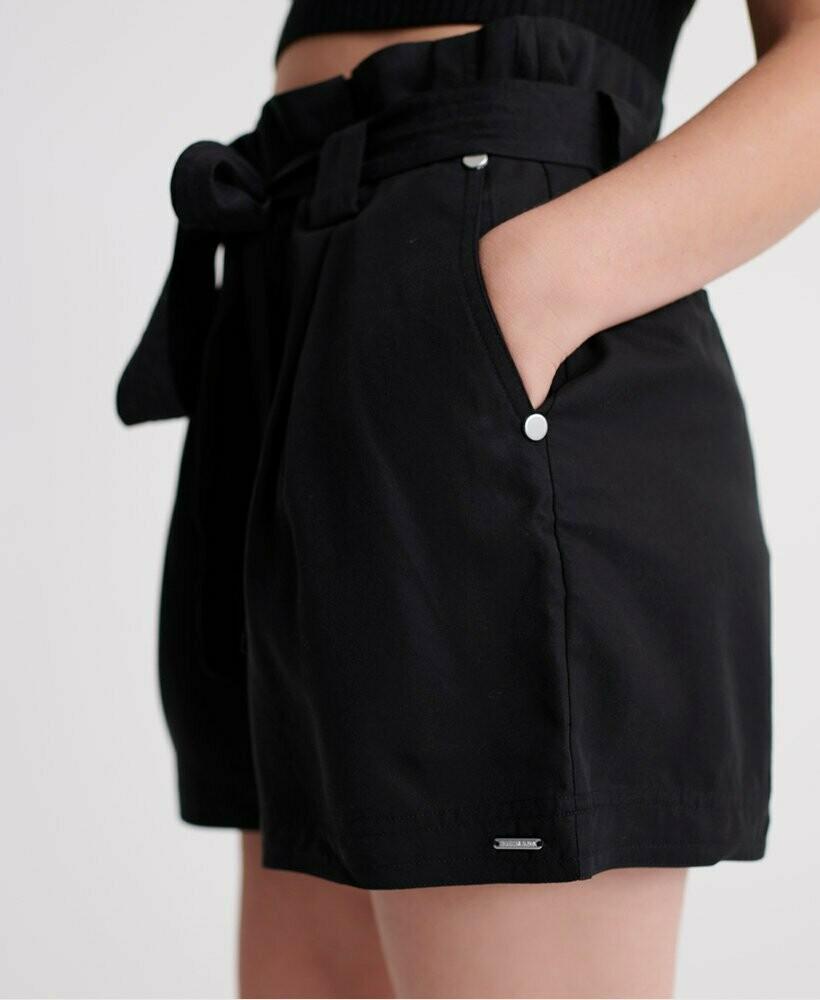 Short Superdry Paperbag Negro