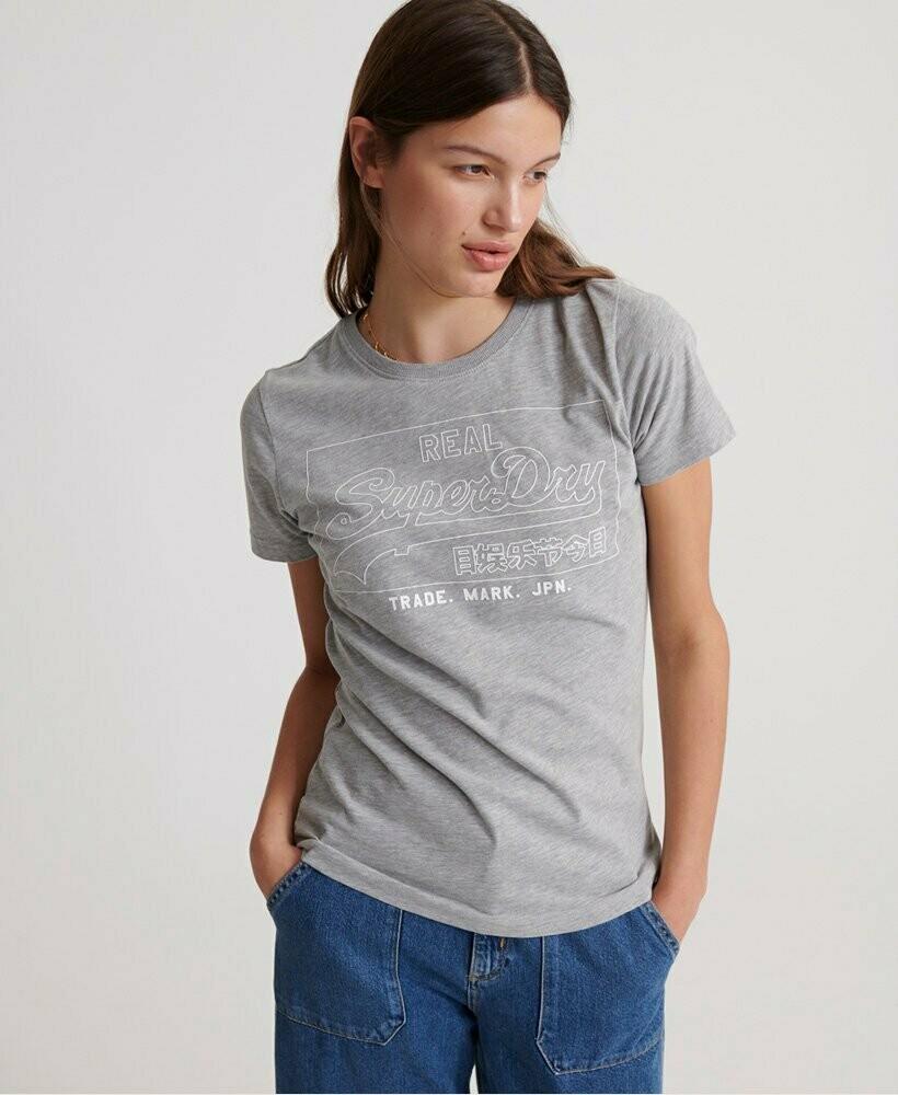 Camiseta Superdry Gris Jaspeado