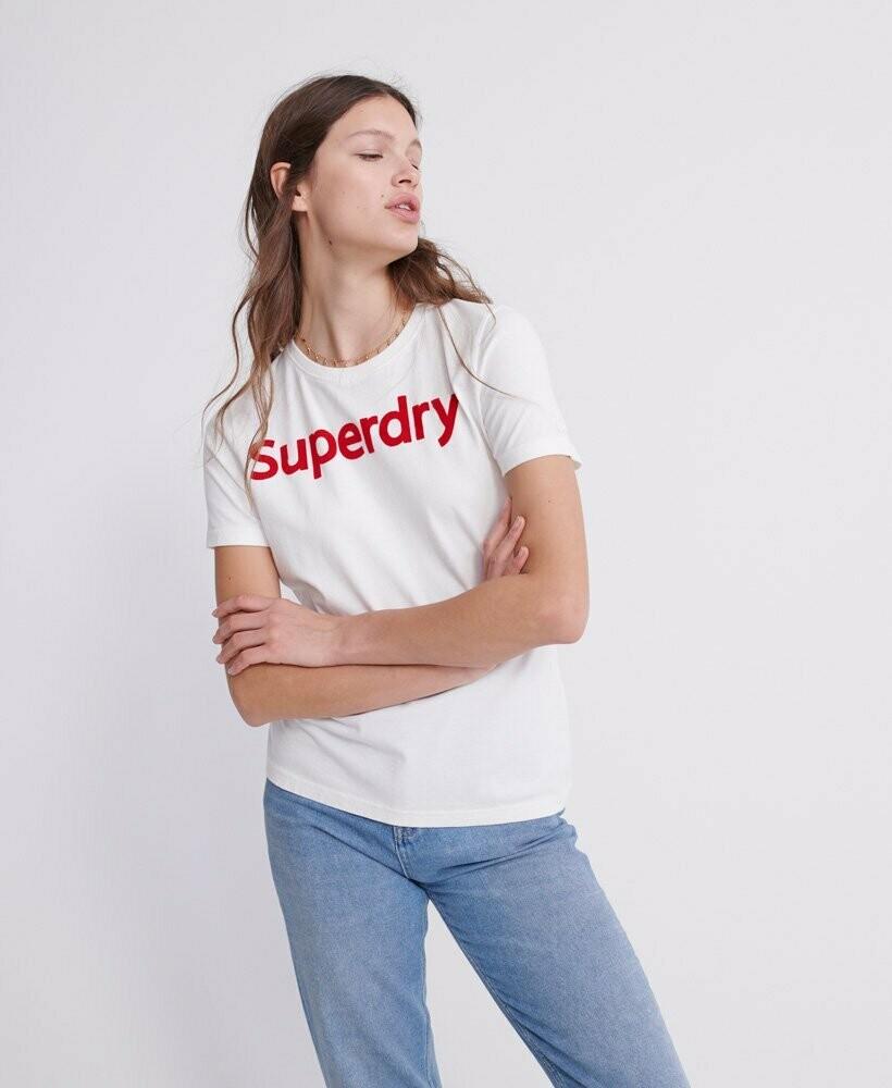 Camiseta blanca con logo