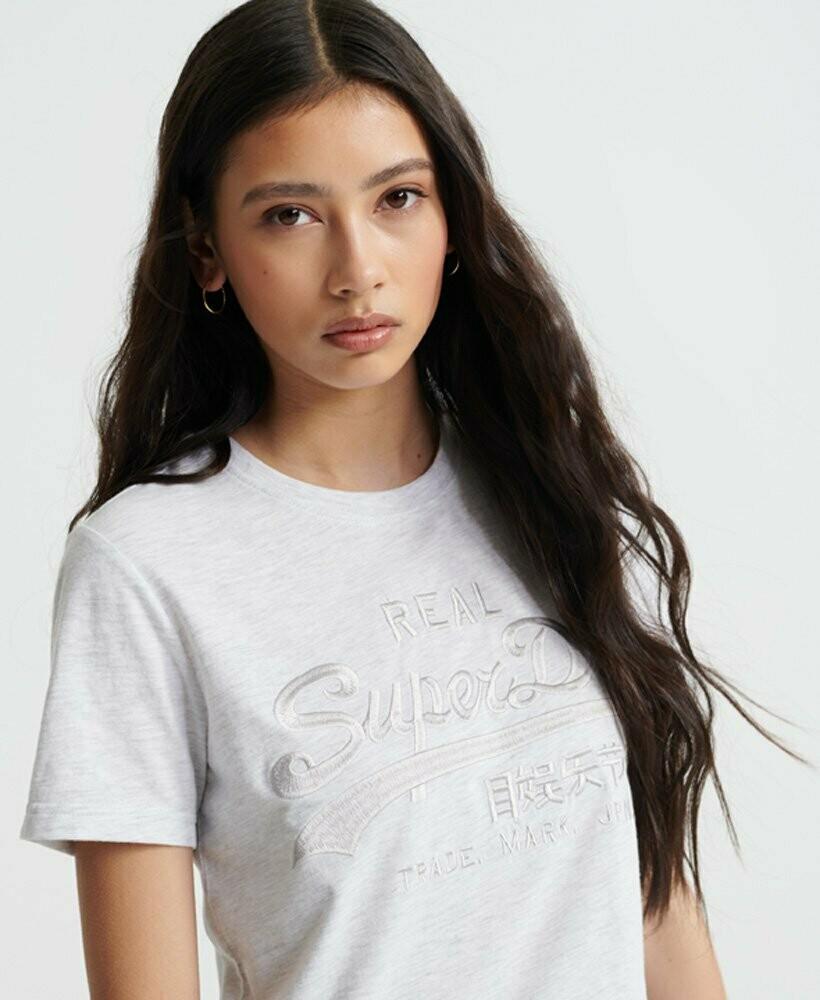 Camiseta Superdry Bordado Hielo Jaspeado