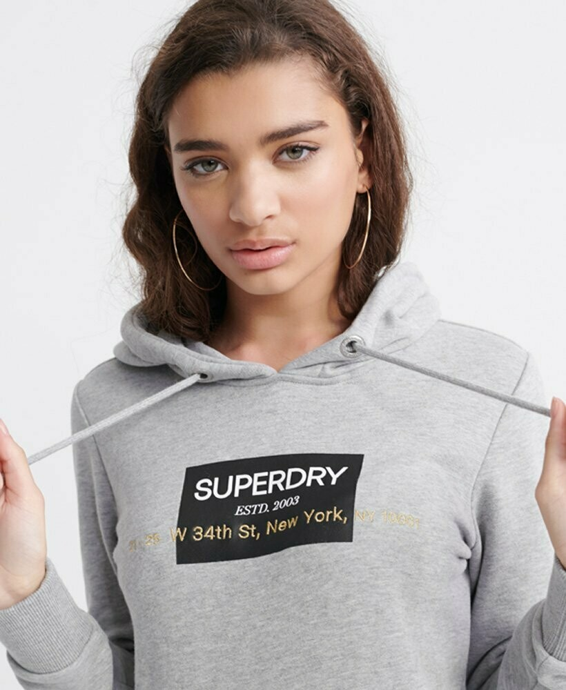 Sudadera Premium gris Superdry 34th street NEW YORK