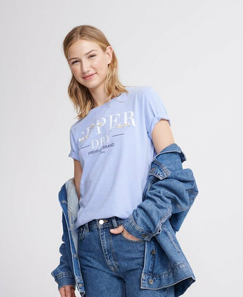 Camiseta Superdry Con Bordado Floral