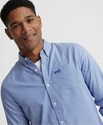 Camisa Classic London Azul Vichy
