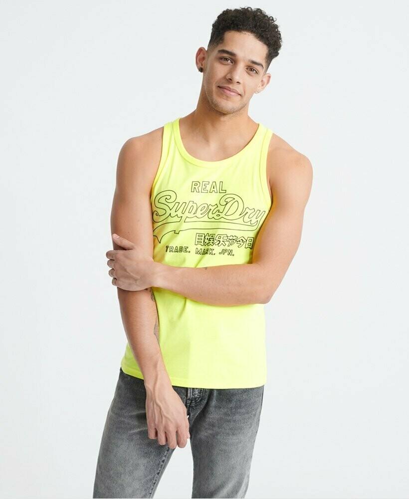 Camiseta de Tirantes outline amarilla neon