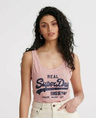 Camiseta De Tirantes Clásica A Rayas Vintage