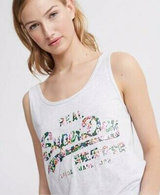 Camiseta De Tirantes Clásica Con Logo Vintage En Estampado Floral gloss