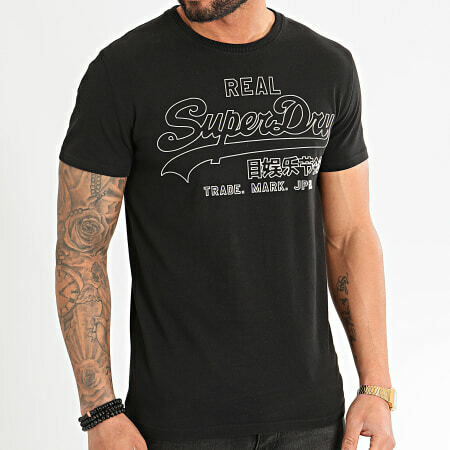 Camiseta outline pop negra
