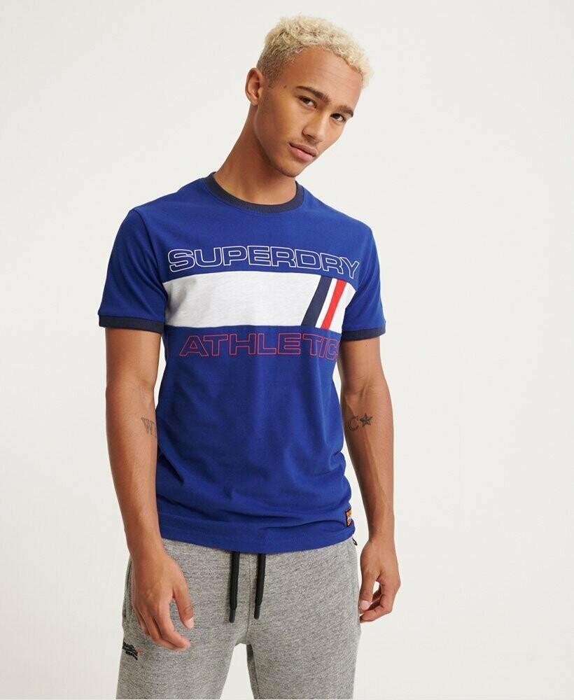 Camiseta Trophy Ringer Azul