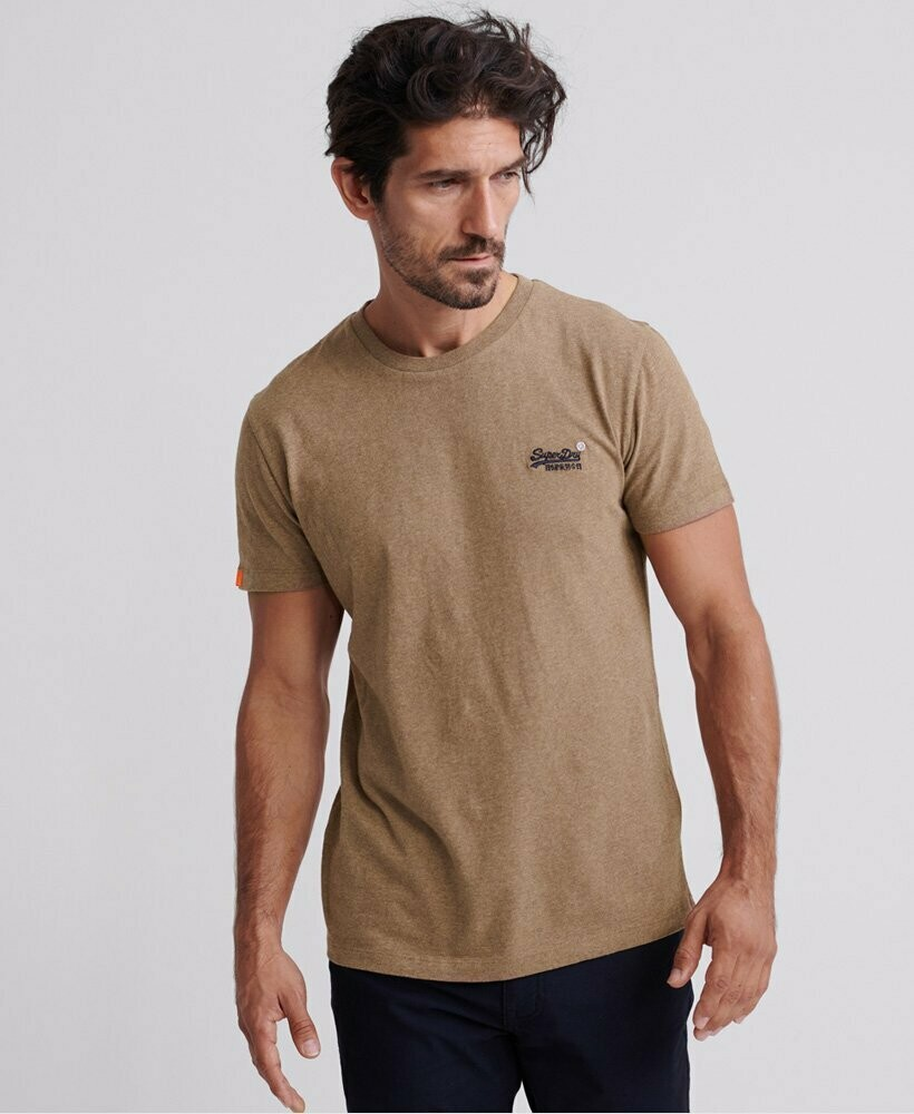 Camiseta Orange Label  Buck Tan Marl Vintage Logo Bordado