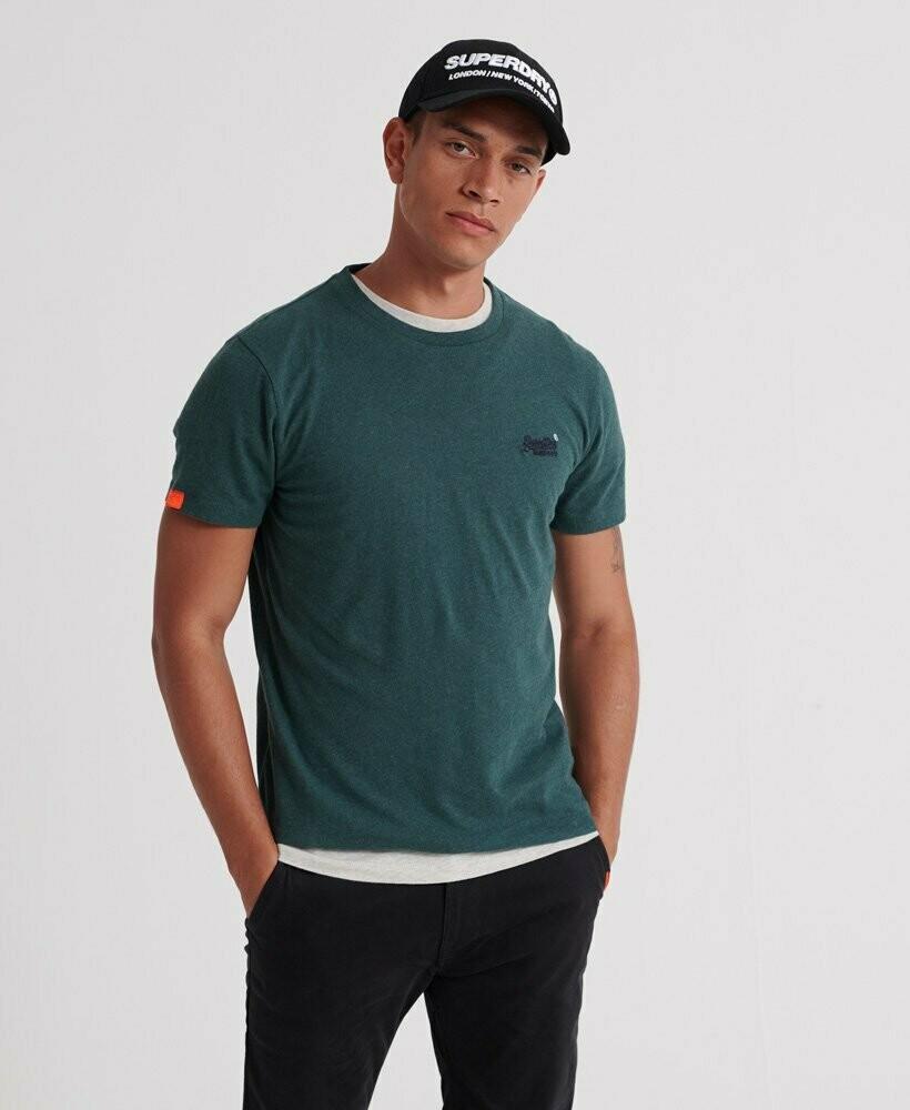 Camiseta Orange Label  Buck Green Marl Vintage Logo Bordado