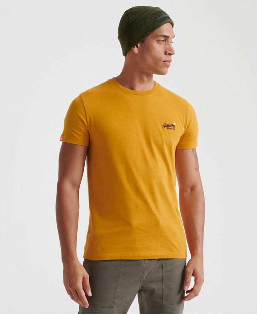 Camiseta Orange Label Vintage  Ocre Logo Bordado
