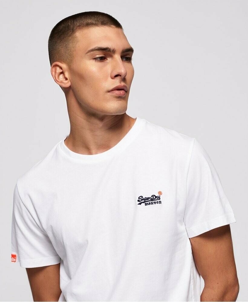 Camiseta Orange Label Vintage  Blanca Logo Bordado