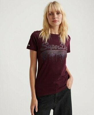 Vintage Logo Metallic Cascade Entry Tee fig