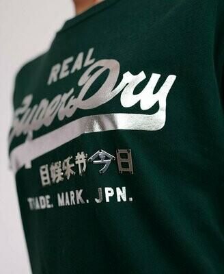 Camiseta con logo vintage METALWORK ENTRY tee verde