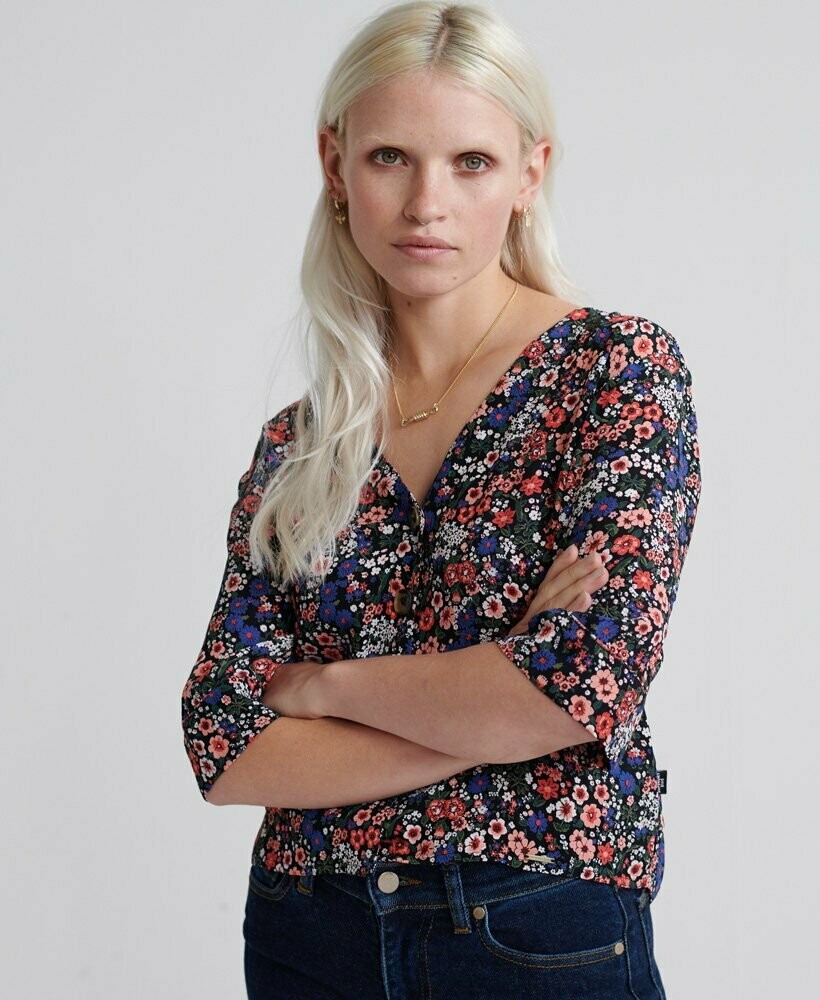 Pippa Button Blouse Floral