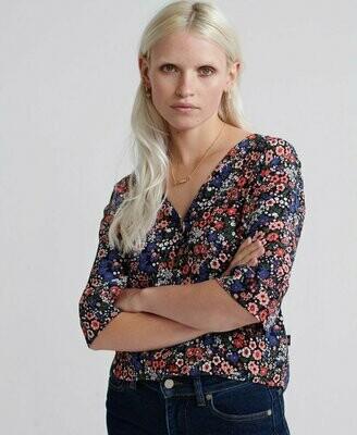 Pippa Button Blouse Floral