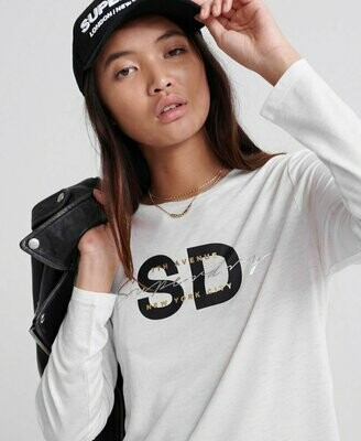 Sparkle Longsleeve Graphic Top