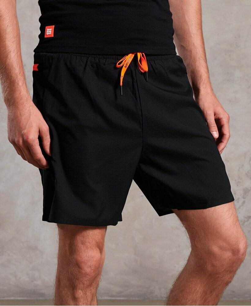Pantalón corto de deporte Active Double Layer Shorts Deep Teal negro