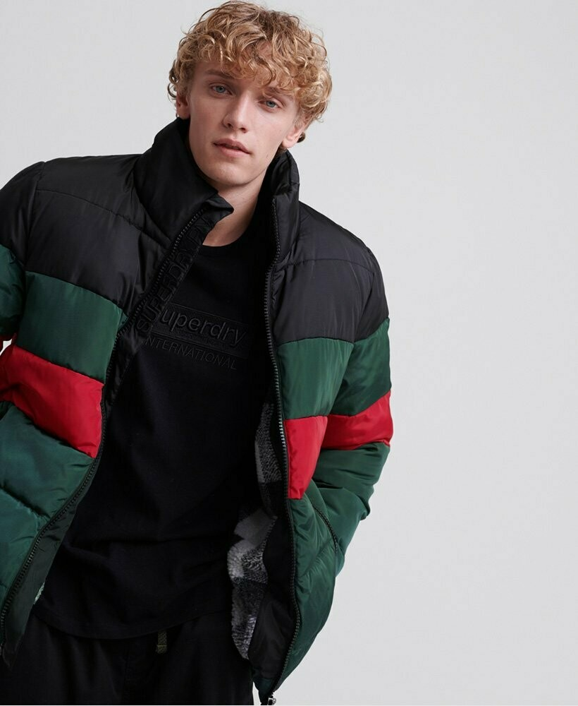Sports Puffer color stripes