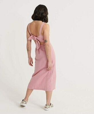 Vestido de lino eden rosa