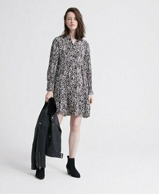 Scandi Shirt Dress Alaska Leopard Print
