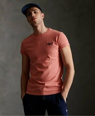 Camiseta orange label Organic Cotton Vintage Embroidery T-Shirt Grenadine Grit