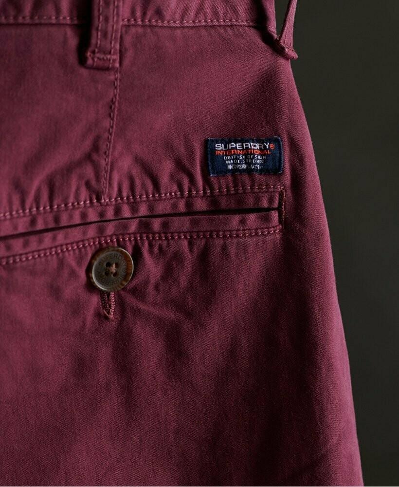 bermuda chino short burgundy